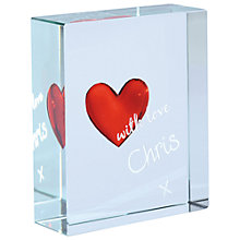 Buy Spaceform Heart Personalised Signature Token Online at johnlewis.com