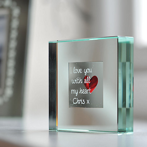 Buy Spaceform Heart Personalised Paperweight Online at johnlewis.com