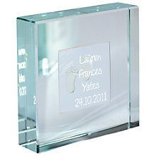 Buy Spaceform New Baby Personalised Paperweight Online at johnlewis.com