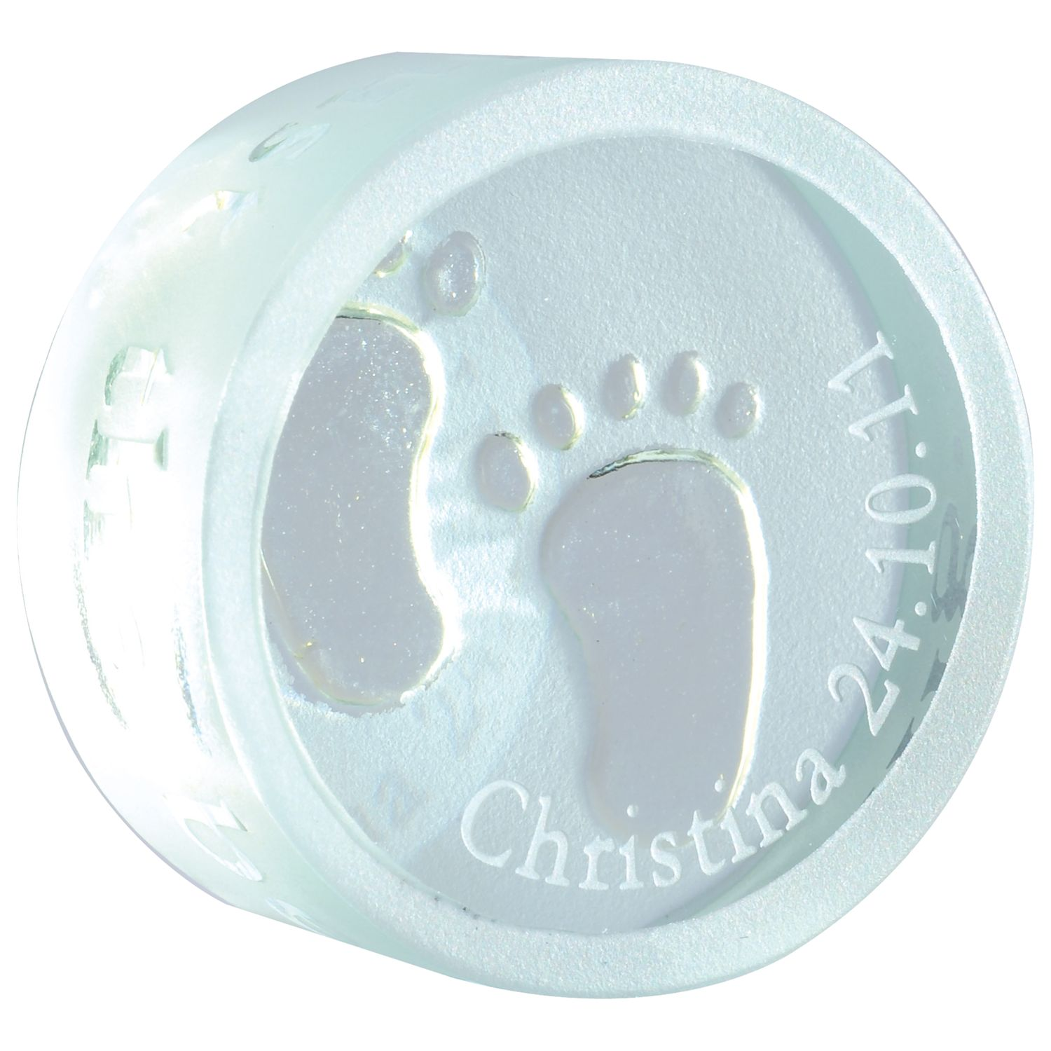 Spaceform New Baby Personalised Round Token