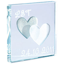 Buy Spaceform Heart Personalised Mini Token, Silver/ White Online at johnlewis.com