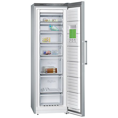 Buy Siemens GS36NVI30G Freezer, Stainless Steel Online at johnlewis.com