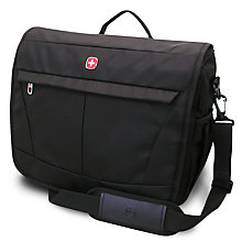 Buy Wenger Basic Messenger Bag, Black Online at johnlewis.com