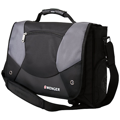 "Buy Wenger 15"" Laptop Messenger Bag, Black Online at johnlewis.com"