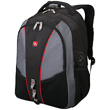 "Buy Wenger 17"" Laptop Backpack, Grey/Black Online at johnlewis.com"