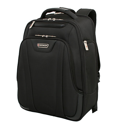 "Buy Wenger Lite 17"" Laptop Backpack, Black Online at johnlewis.com"