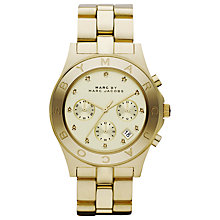 Buy Marc by Marc Jacobs MBM3101 Women's Blade Chronograph Bracelet Watch, Gold Online at johnlewis.com