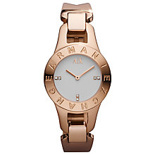 Buy Armani Exchange AX4091 Women's Bracelet Watch, Rose Gold Online at johnlewis.com