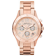 Buy Marc by Marc Jacobs Rock Women's Chronograph Bracelet Watch, Rose Gold Online at johnlewis.com