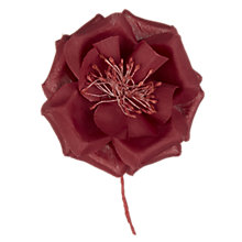 Buy Wild Rose Corsage, Claret Online at johnlewis.com