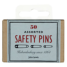 Buy John Lewis Heritage Assorted Safety Pins, Pack of 50 Online at johnlewis.com