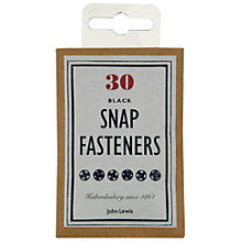 Buy John Lewis Heritage Snap Fasteners, Pack of 30, Black Online at johnlewis.com