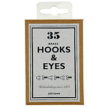 Buy John Lewis Heritage Hooks and Eyes, Pack of 35 Online at johnlewis.com