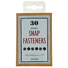 Buy John Lewis Heritage Snap Fasteners, Pack of 30, Brass Online at johnlewis.com