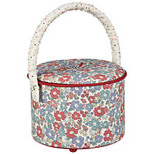 Buy John Lewis Sugar Almond Sewing Basket, Round Online at johnlewis.com
