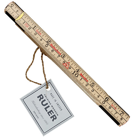 Buy John Lewis Heritage Fold-Out Measuring Tape Online at johnlewis.com