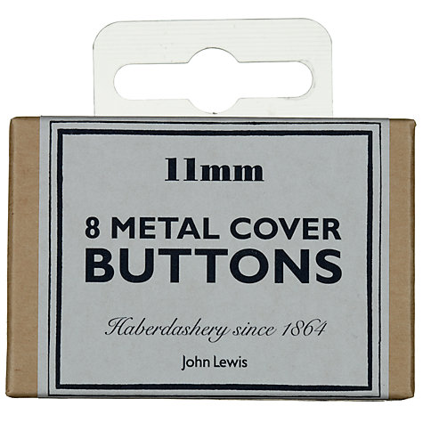 Buy John Lewis Heritage 11mm Metal Cover Buttons, Pack of 8 Online at johnlewis.com