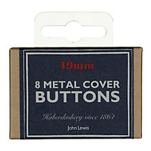 Buy John Lewis Heritage 19mm Metal Cover Buttons, Pack of 8 Online at johnlewis.com