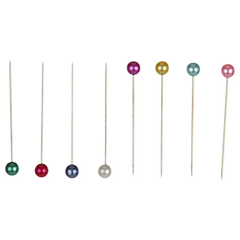 Buy John Lewis Heritage Pearlised Head Pins, Pack of 60 Online at johnlewis.com