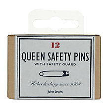 Buy John Lewis Heritage Queen Safety Pins, Pack of 12 Online at johnlewis.com