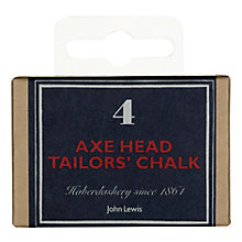 Buy John Lewis Heritage Axe Head Tailor's Chalk, Pack of 4 Online at johnlewis.com