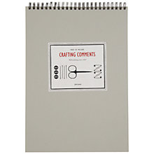 Buy John Lewis Heritage A4 Crafting Comments Notebook Online at johnlewis.com