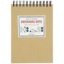Buy John Lewis Heritage A6 Dressmaking Notes Notebook Online at johnlewis.com