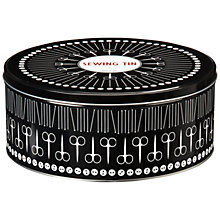 Buy John Lewis Heritage Round Sewing Tin, Large Online at johnlewis.com