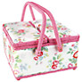 Cath Kidston Trailing Flowers Sewing Basket, Twin Lid