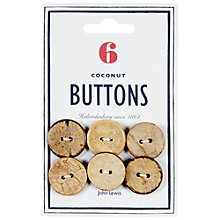 Buy John Lewis Heritage 23mm Coconut Buttons, Pack of 6 Online at johnlewis.com
