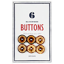 Buy John Lewis Heritage 18mm Olive Wood Buttons, Pack of 6 Online at johnlewis.com