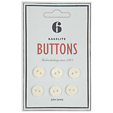 Buy John Lewis Heritage 13mm Bakelite Buttons, Pack of 6 Online at johnlewis.com