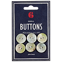 Buy John Lewis Heritage 20mm Natural Shell Buttons, Pack of 6 Online at johnlewis.com