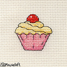 Buy Mouseloft Cross-Stitch Kit, Cupcake Online at johnlewis.com