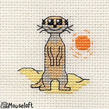 Buy Mouseloft Cross-Stitch Kit, Meerkat Online at johnlewis.com