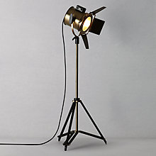 Buy Libra Blake Floor Lamp, Brass Online at johnlewis.com