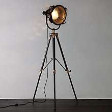 Buy Libra Vintage Floor Lamp, Antique Brass Online at johnlewis.com