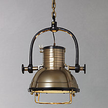 Buy Libra Vintage Spotlight, Brass Online at johnlewis.com