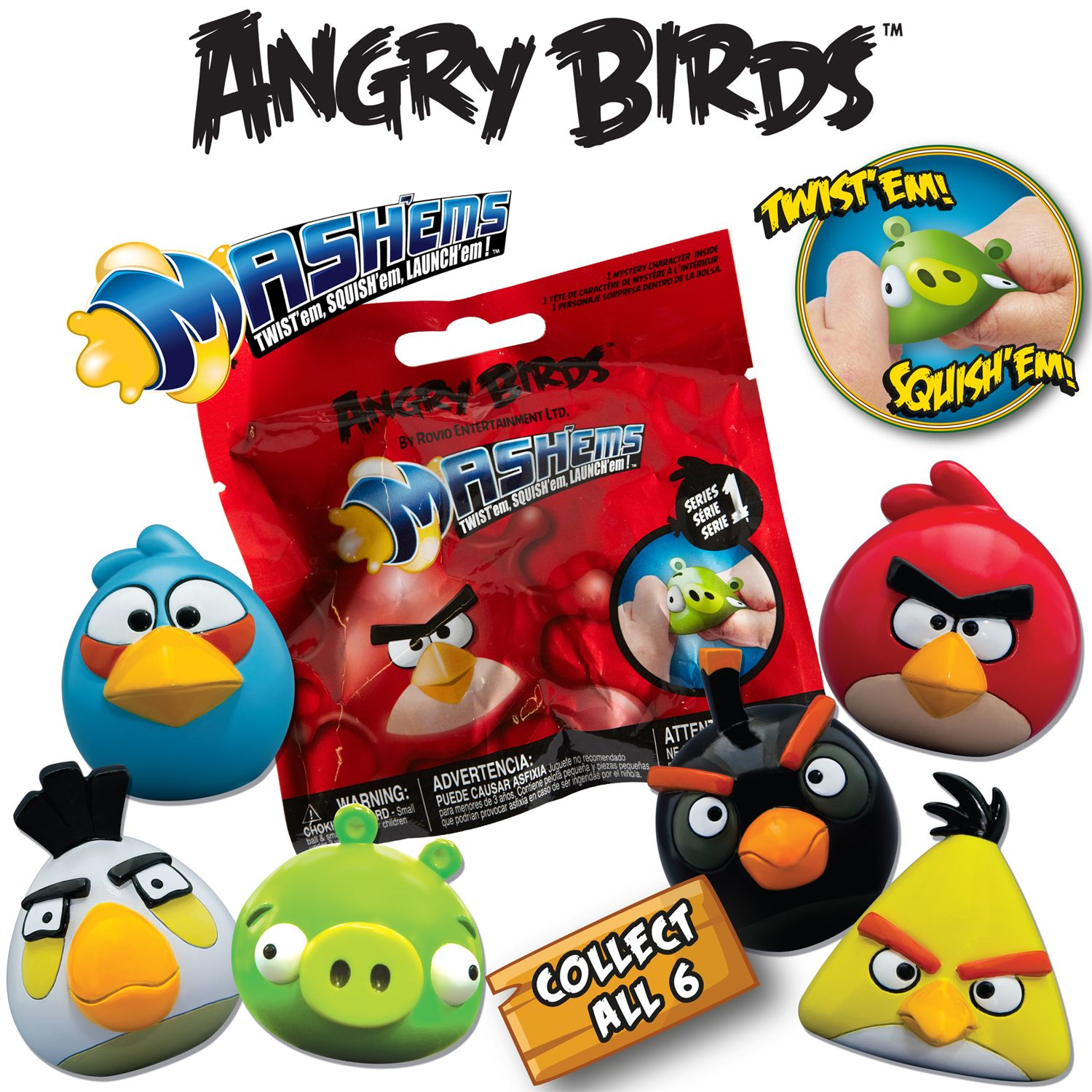 Angry Birds Mash'ems Foil Bag, Assorted