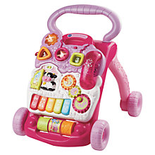 Buy V-Tech First Steps Babywalker, Pink Online at johnlewis.com