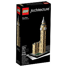 Buy LEGO Architecture 21013 Big Ben Online at johnlewis.com