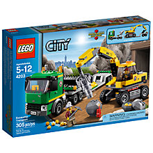 Buy LEGO City Excavator Transport Online at johnlewis.com