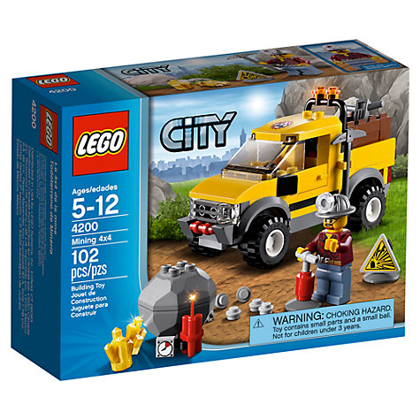 Buy LEGO City Mining 4x4 Online at johnlewis.com