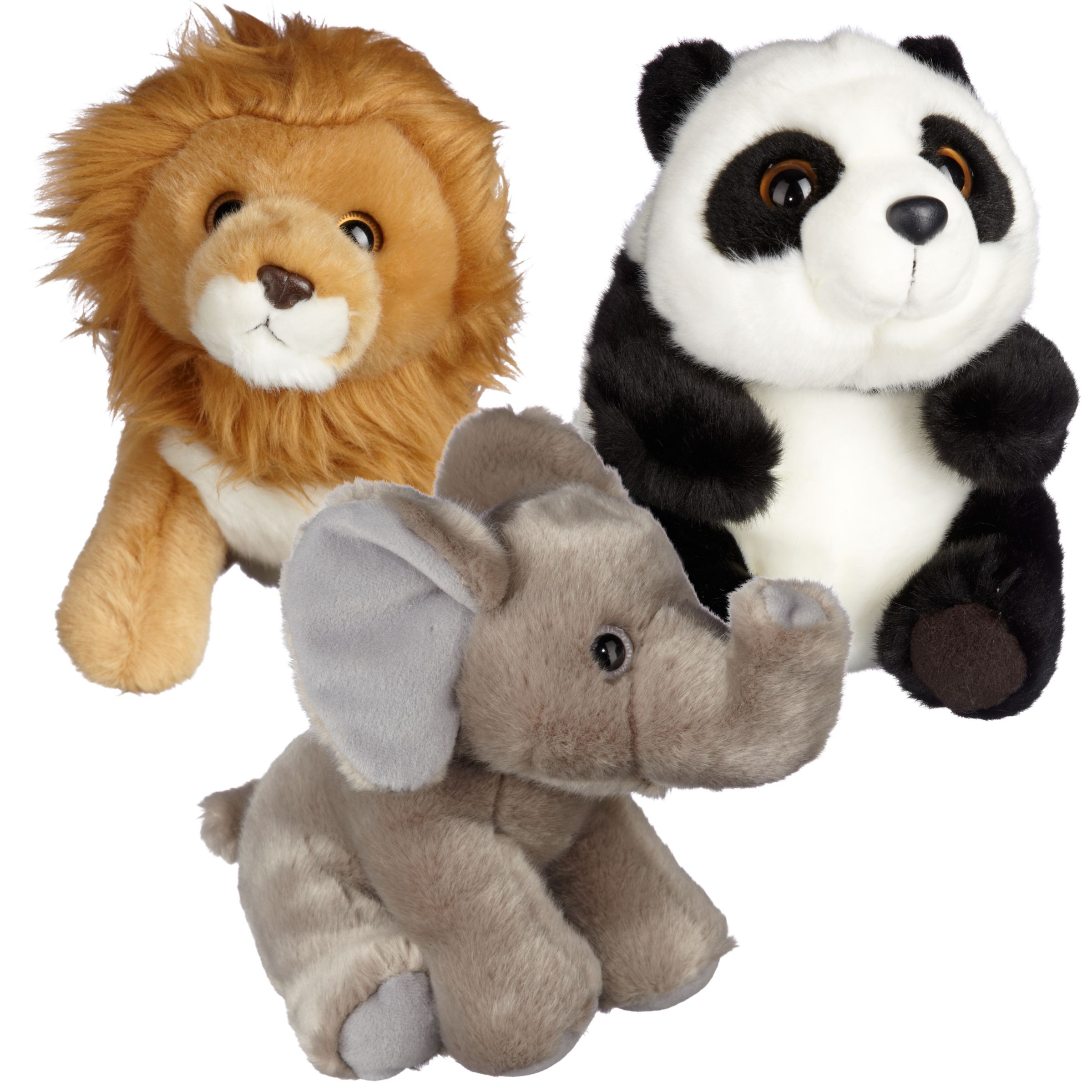 "John Lewis Cuddly Wild Animal 8.5"" Soft Toy, Assorted"