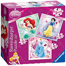 Buy Ravensburger Disney Princess 3 in a Box Jigsaw Puzzles Online at johnlewis.com