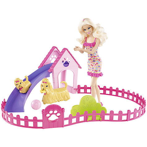 Buy Barbie Fetch and Fun Pup Set Online at johnlewis.com