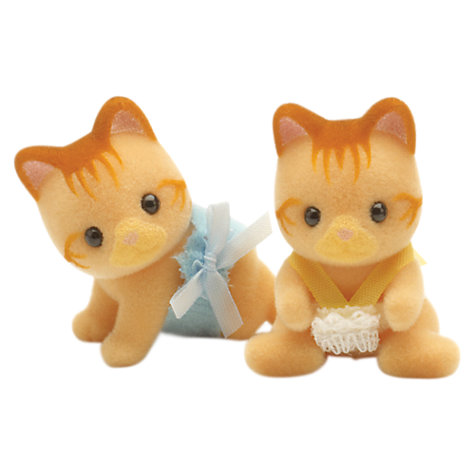 Buy Sylvanian Ginger Cat Twin Babies Online at johnlewis.com