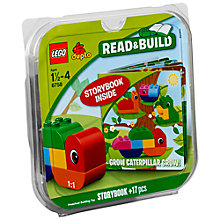 Buy LEGO DUPLO Bricks and Book Set, Grow Caterpillar Grow Online at johnlewis.com