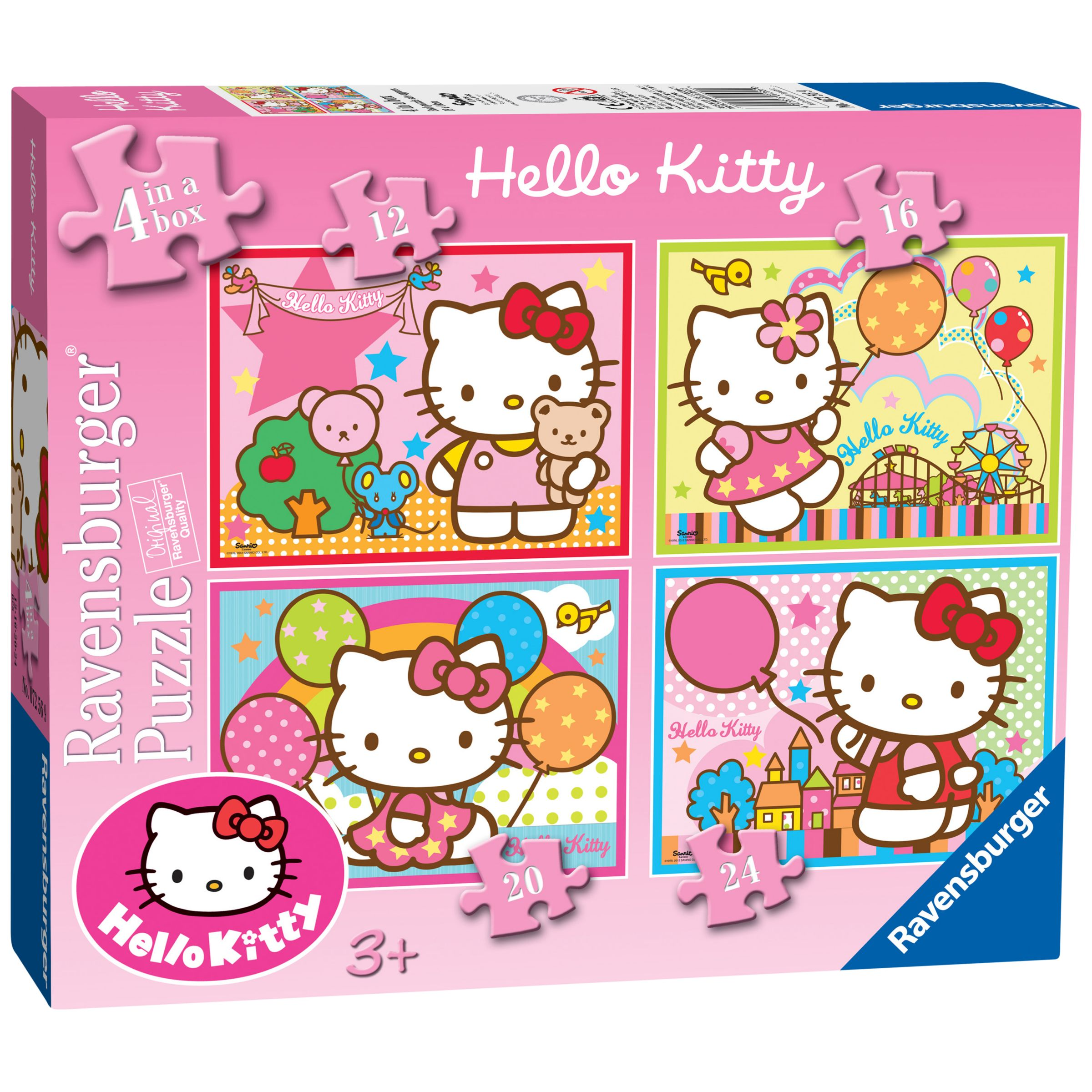 Hello Kitty 4 In A Box Puzzle