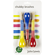 Buy John Lewis Chubby Brushes, Pack of 3 Online at johnlewis.com